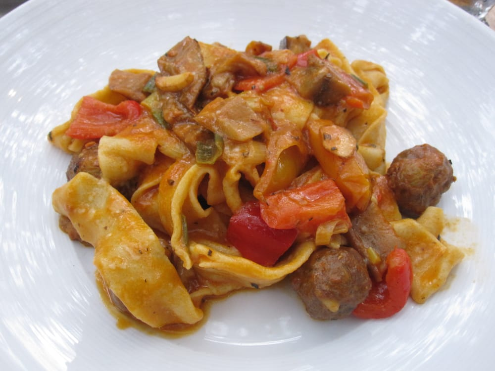 ... pine nuts and golden raisins, ragu of eggplant, roast peppers, | Yelp