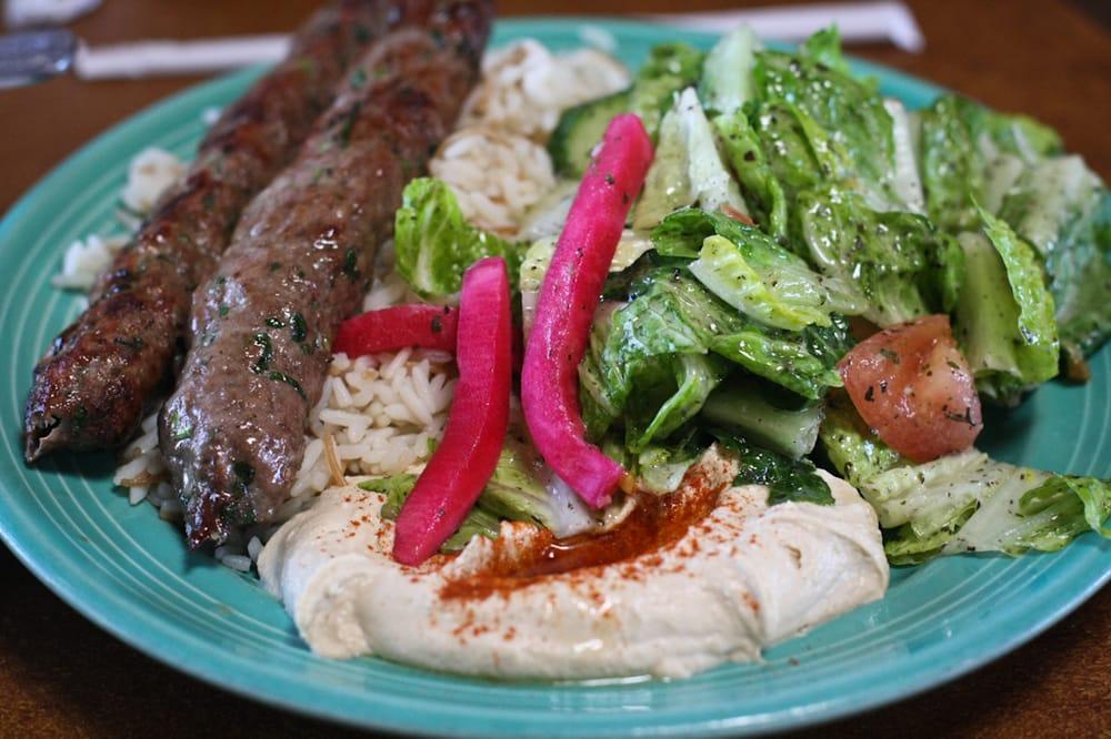 Beef Kabobs Plate Beef Kefta Kabob Plate