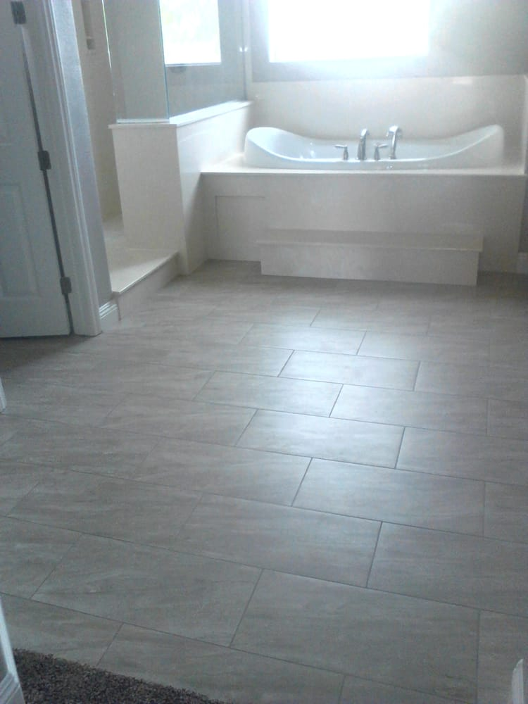 Motion 12 X 24 Porcelain Tile Off Set Installation