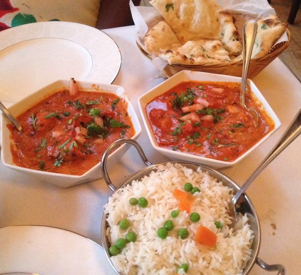 Butter chicken masala with naan