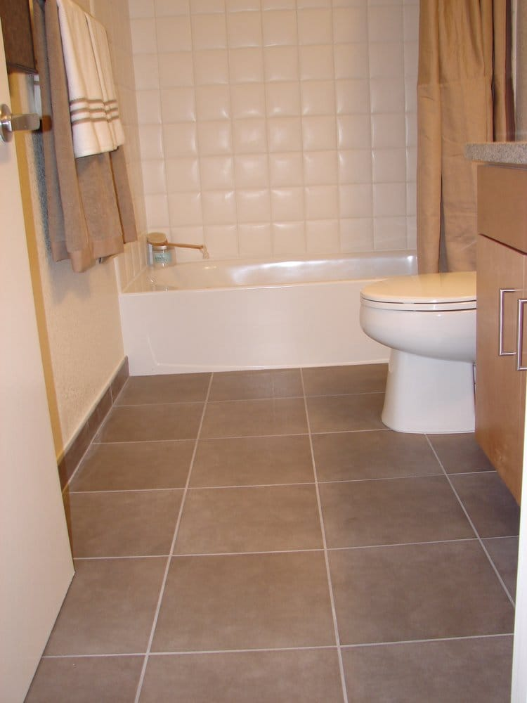 Bathroom floor tile