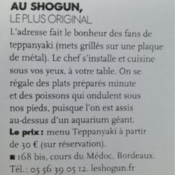 Le Shogun, Bordeaux, France