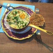 La Fee Gourmande - Arles, Bouches-du-Rhône, France. Crab egg spinach baked