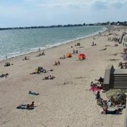 La plage de Damgan, Damgan, Morbihan, France