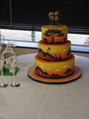 Inticing creations africa themed wedding cake san francisco ca