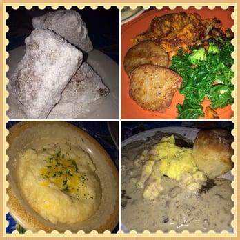 , WA, United States. Beignets, the vegetarian breakfast: sweet potato ...