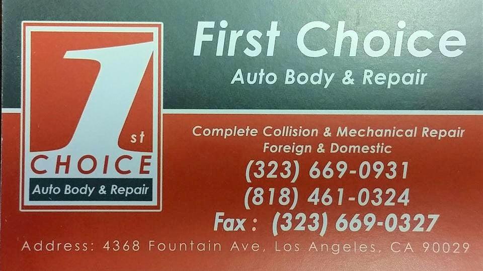 First Choice Auto Body Repair Body Shops East