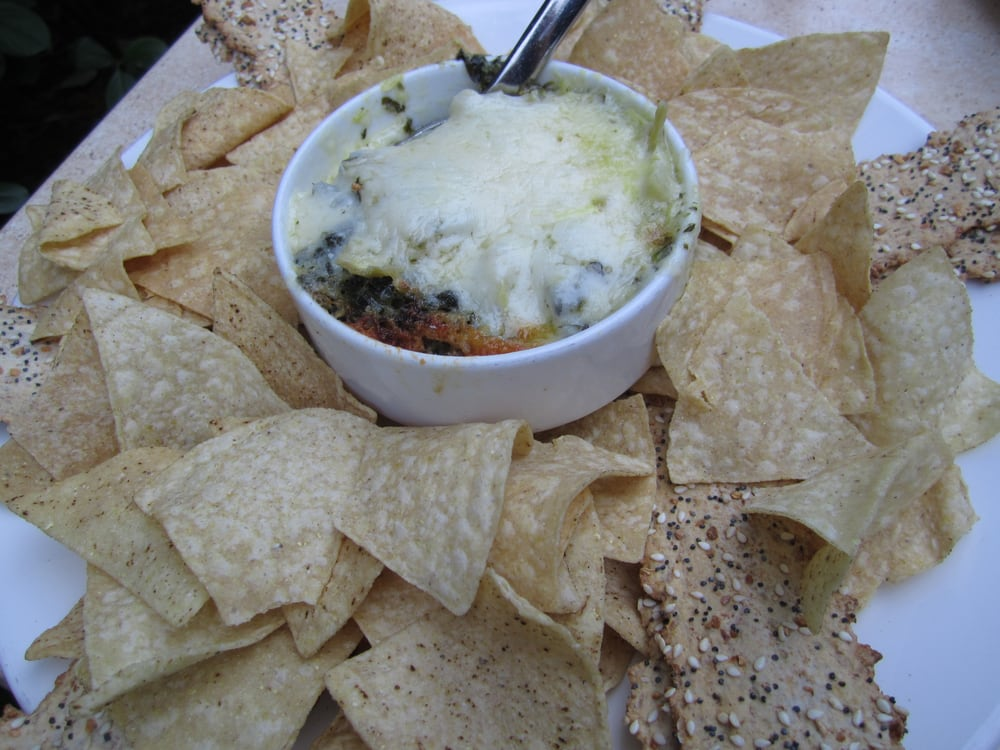 Spinach Artichoke Dip With Chips Artichoke Spinach Dip With