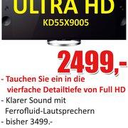 Sony Ultra HD LED TV in der Ausstellung
