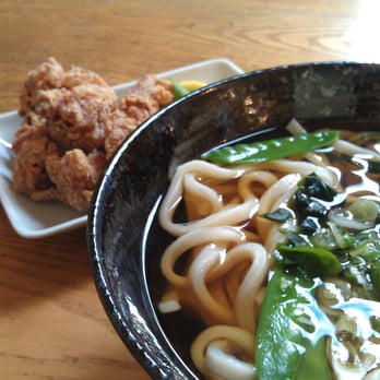 Udon and chicken karaage.