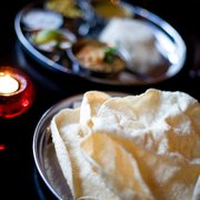 Poppadums and thali