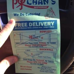 Van Chans Restaurant Menu