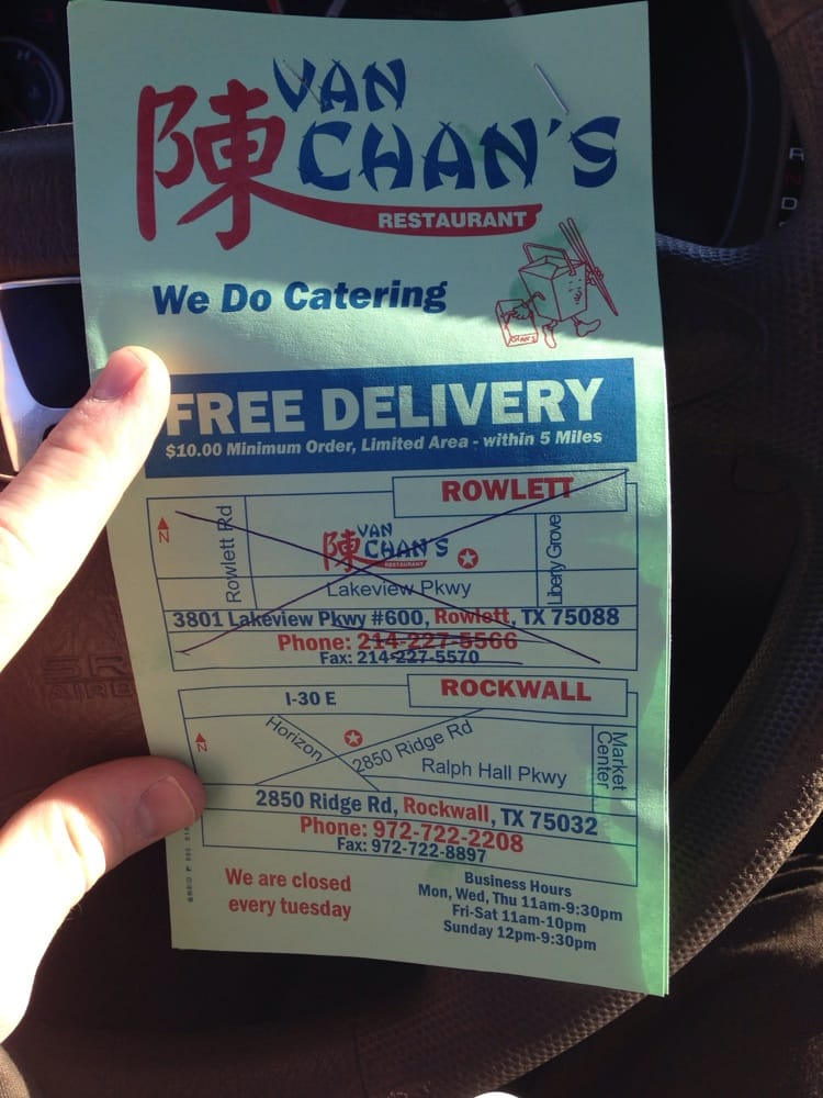 Van Chans Chinese Restaurant Chinese Rockwall Tx Yelp