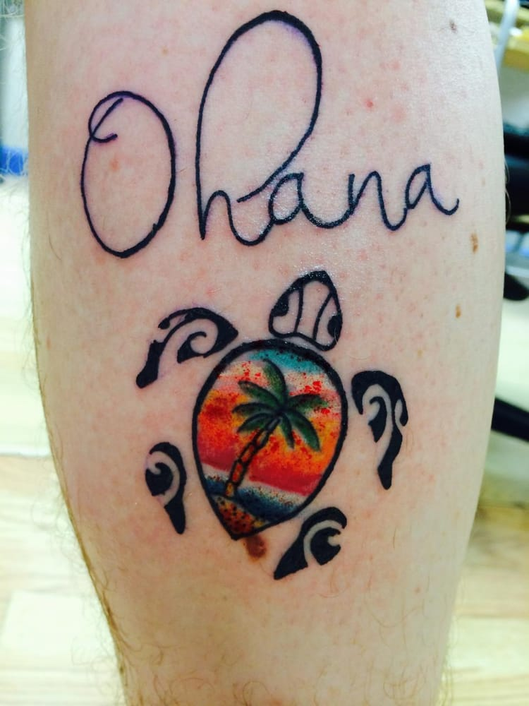 ohana meaning family the turtle sunset represents my