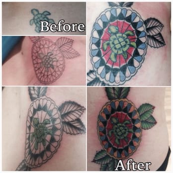 Lightning revival tattoo company tattoo 2237 84th st for Revival tattoo and piercing