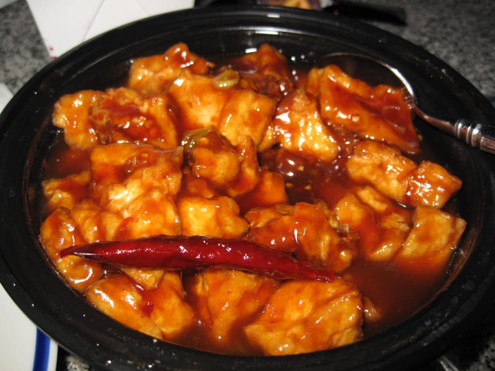 Hong Kong Express - General Tso with bean curd (tofu) - Alexandria, VA ...