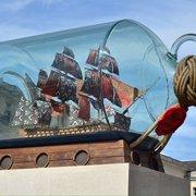 Ship in a bottle in greenwich park.