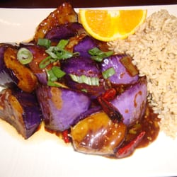Dragon's Pond - Garlic Eggplant with brown rice. - Walnut Creek, CA, Vereinigte Staaten