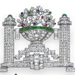 Art deco Jewellery London. An art deco diamond brooch