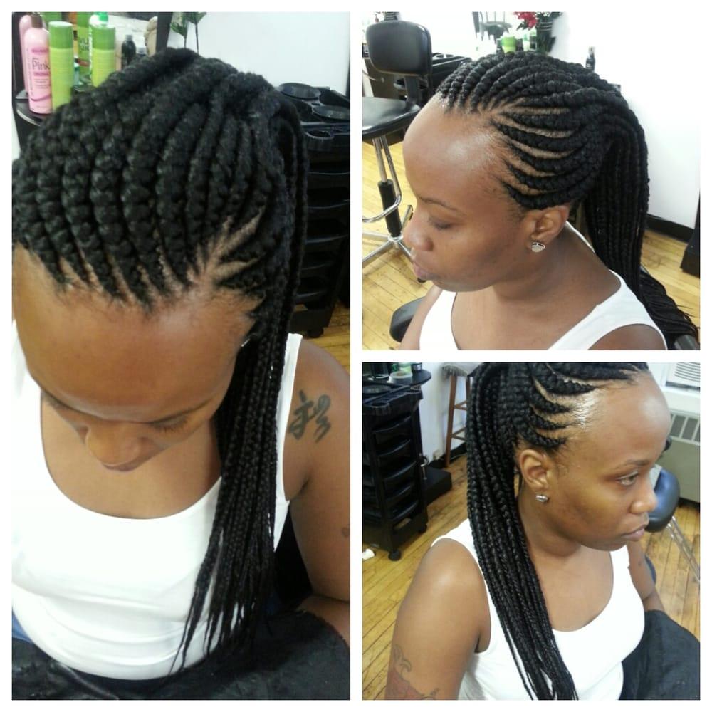 Ghana Weaving Braids Hairstyle Gallery