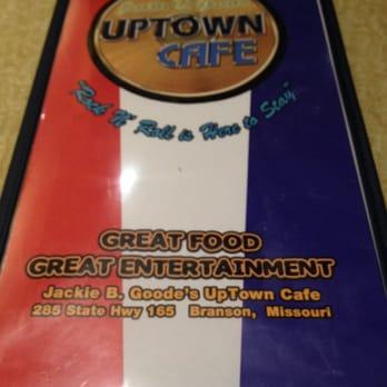 Uptown Cafe Branson Mo Menu