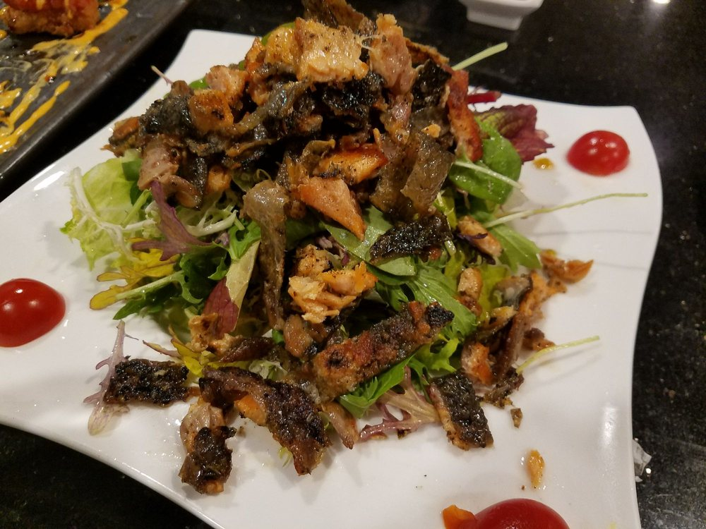 Salmon Skin Salad a Japanese Salad Favorite