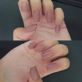 Acrylic nails with gel on top
