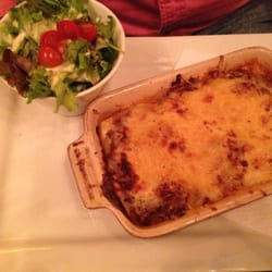 Lasagna with a side salad