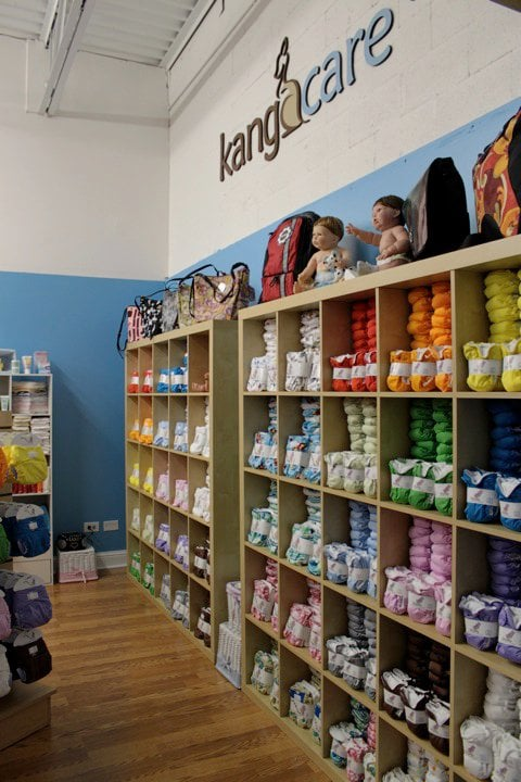 Mother Nature's in Portland carries cloth diapers. They also hosted our first book signing for The Eco-nomical Baby Guide