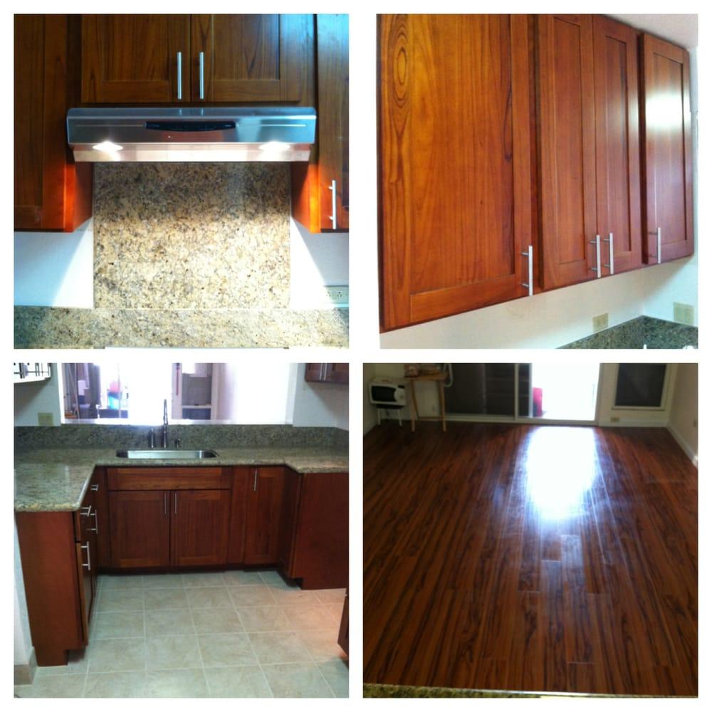 Prefabricated Granite Countertops Near Me : - Prefab Instock cherry shaker doors w/ face frame cabinets. Granite ...
