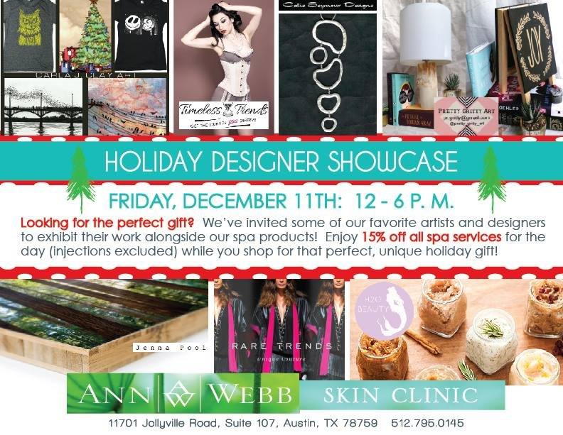 Holiday Designer Showcase @ Ann Webb Skin Clinic