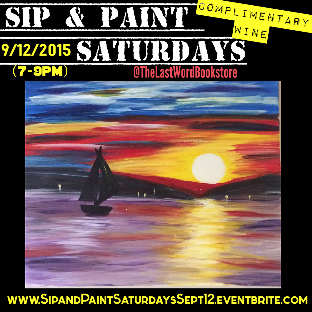 Sip and paint saturdays includes complimentary wine and for Sip and paint charlotte nc