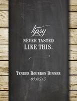 Bourbon Dinner at Tender