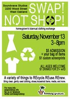 'Swap Not Shop' Clothing Exchange
