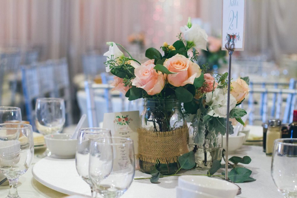 Simple Centerpieces For Our Wedding Paracel Provided Table Number