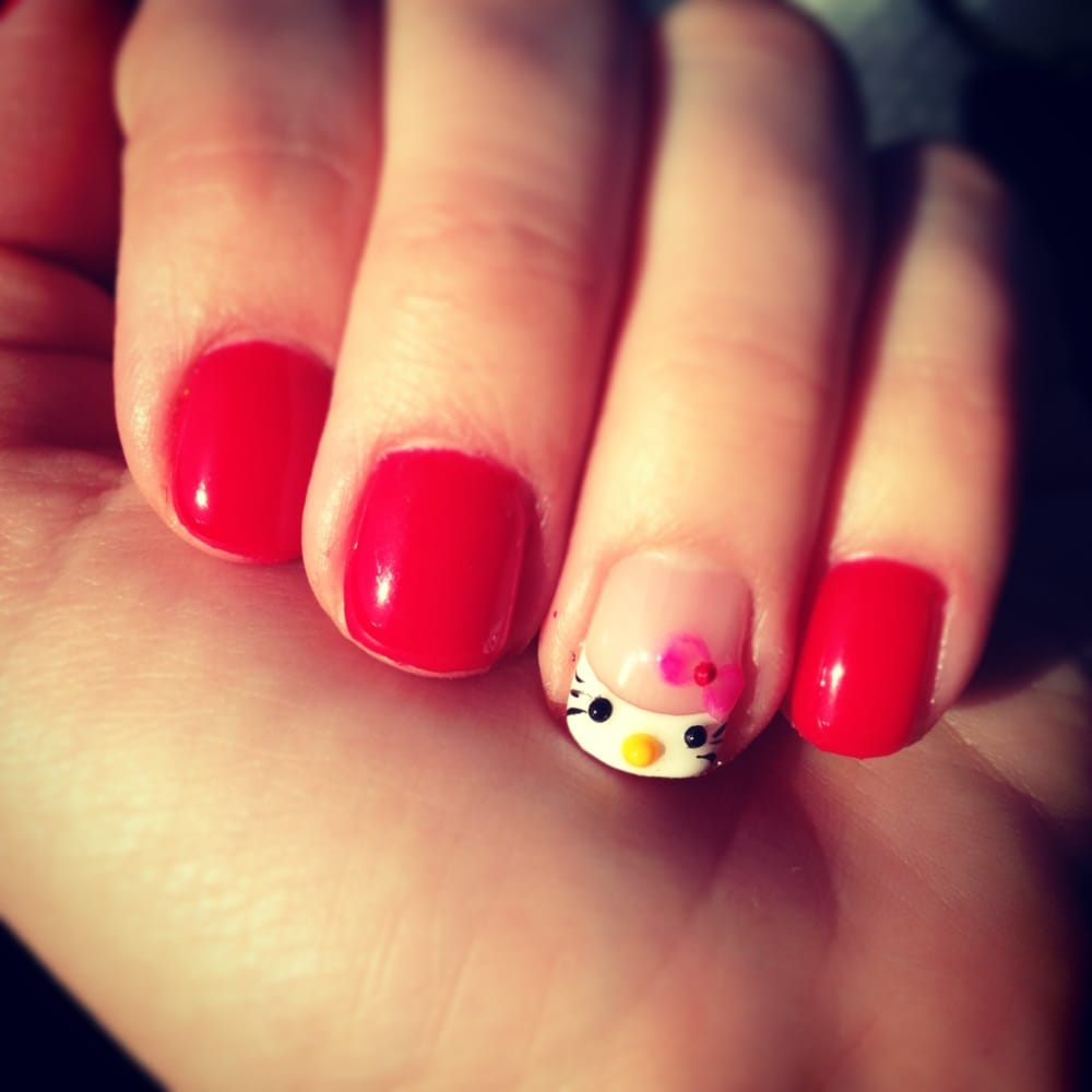 Red Shellac With Hello Kitty 3D