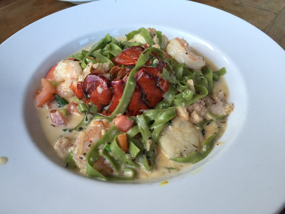 The ultimate seafood pasta yelp for The fish hopper