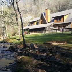 Lands creek log cabins hotel 3336 balltown rd bryson for Piani di log cabin lodge