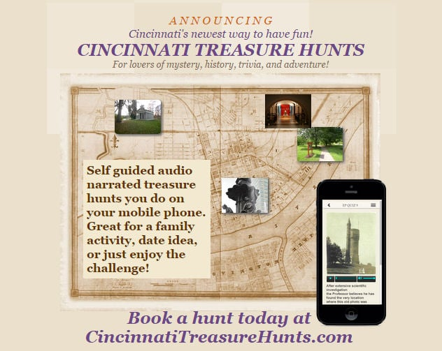 Cincinnati Treasure Hunts: 953 Eden Park Dr, Cincinnati, OH