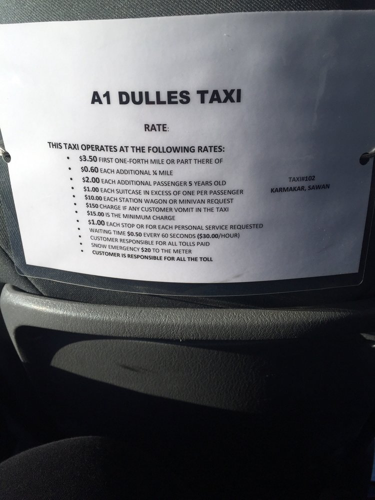 A1 Dulles Taxi: 768 Sugarland Run Dr, Sterling, VA