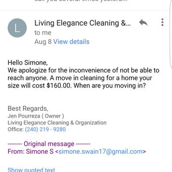 Photo of Living Elegance Cleaning & Organization - Germantown, MD, United  States. Hmmm