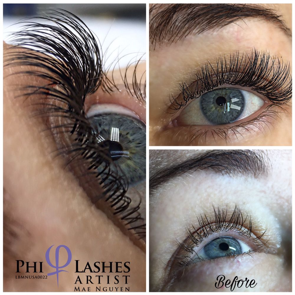 Natural Looking With Individual Eyelash Extensions Lashes Done By