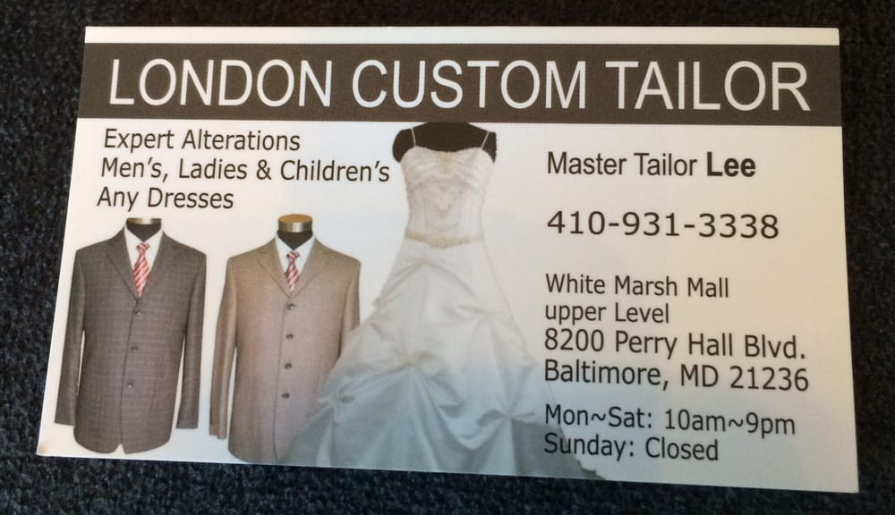 London Custom Tailor - 14 Reviews - Sewing & Alterations - 8200 ...
