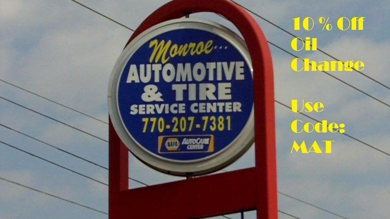 Monroe Automotive and Tire Service Center: 524 E Spring St, Monroe, GA