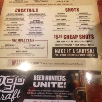 Photo Of Twin Peaks   Orland Park, IL, United States. Drink Menu