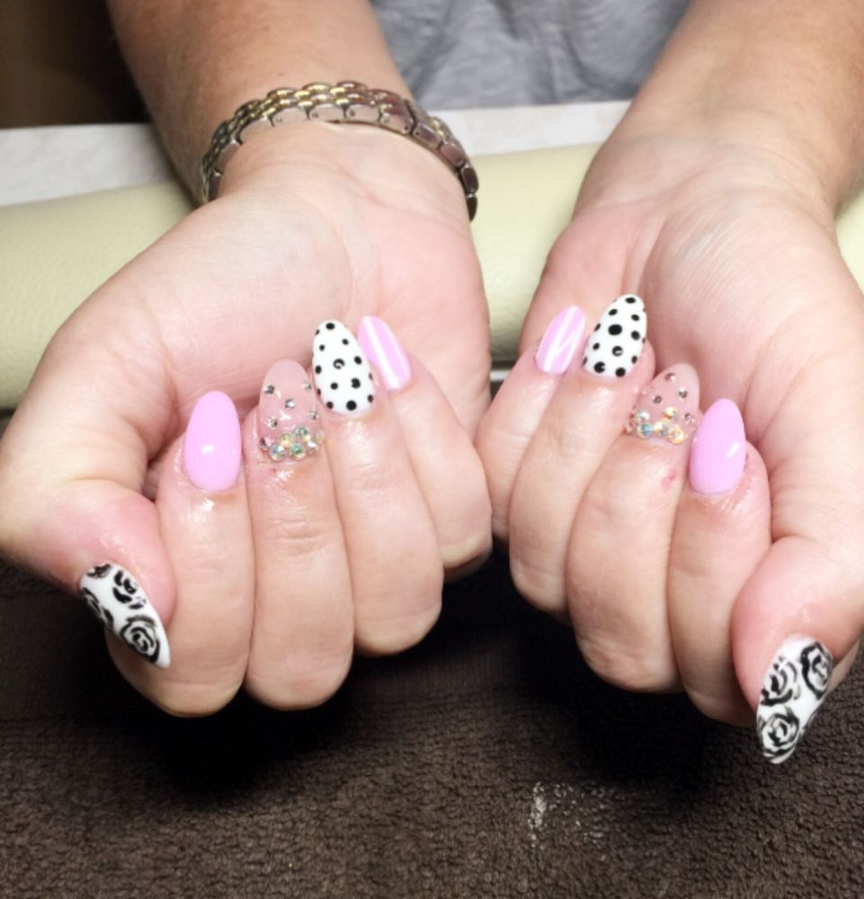 Another great NexGen nail design at Majestic nails! TT did this from ...