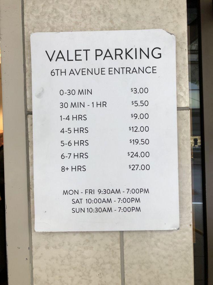Nordstrom Valet: 500 Pine St, Seattle, WA