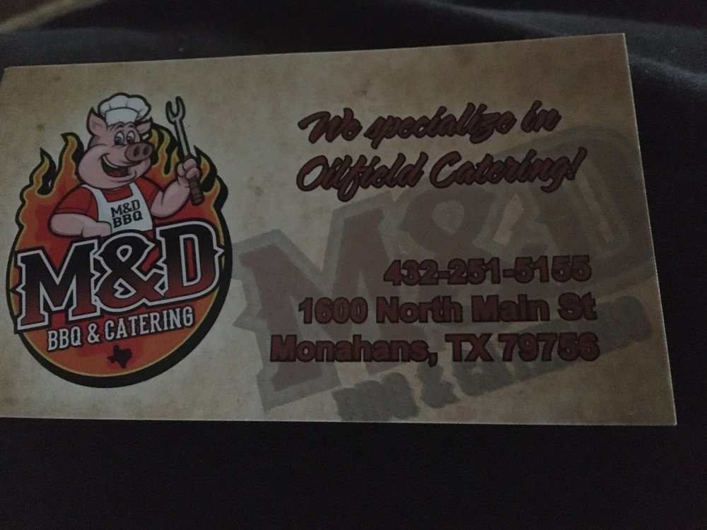 M & D BBQ & Catering: 1600 N Main Ave, Monahans, TX
