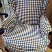 Great Cane Bench Photo Of Consignment Connection   Burlington, NC, United States.  Gingham Chair Perfect For