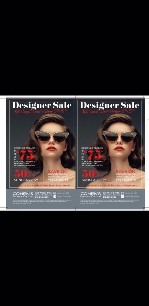 9f57fe8157c Cohen s Fashion Optical - 45 Photos   87 Reviews - Eyewear   Opticians -  225 W 34th St